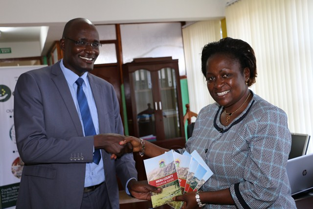 RITHAA(L), MCMC MD GIVES ELSIE (R) MERU TOURISM GUIDE